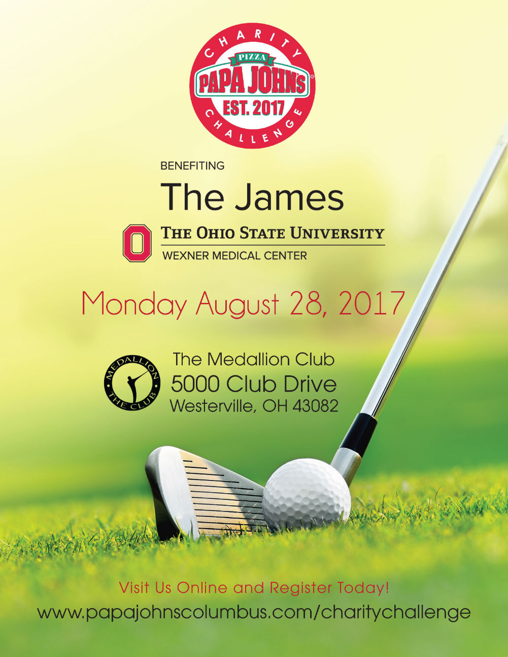 Papa John's Charity Challenge, benefiting The James at The Ohio State University Wexner Medical Center, Monday August 28 2017 at The Medallion Club.
